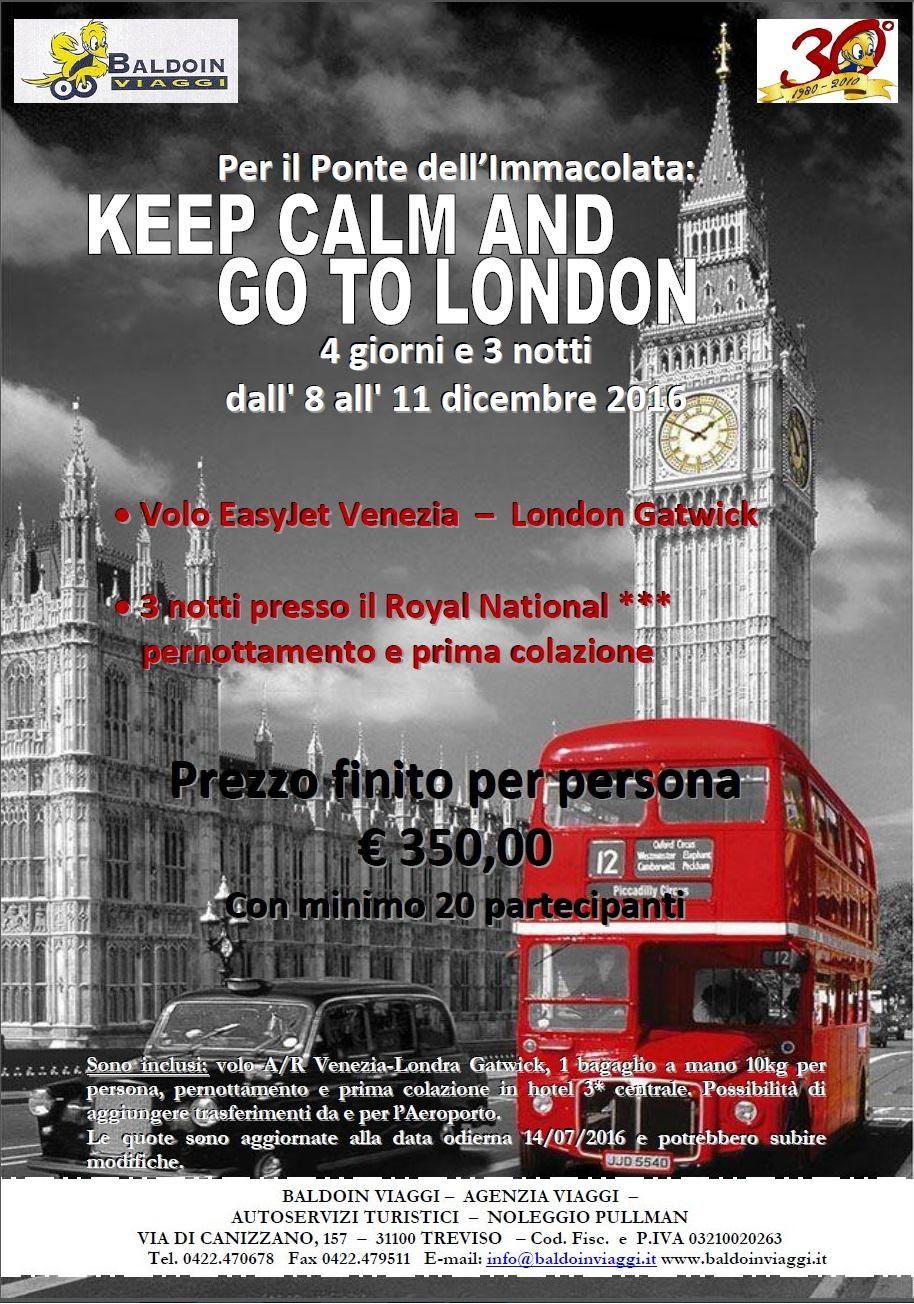 Viaggio di gruppo a Londra – ponte dell'Immacolata