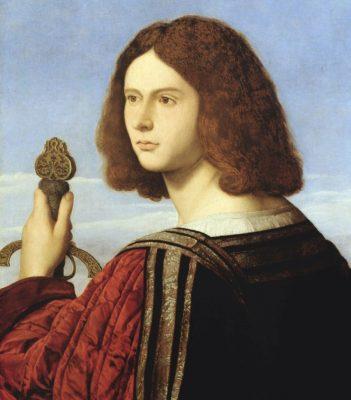 04p Vincenzo Catena Gentiluomo con spada 351x400 - Le Trame del Giorgione - Castelfranco Veneto Tv