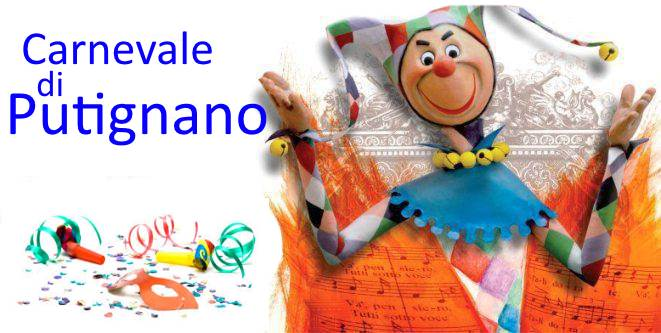 locandina presentazione carnevale putignano - Carnevale di Putignano e i tesori della Puglia Centrale 09 Febbraio 2018 - Tour in Italia