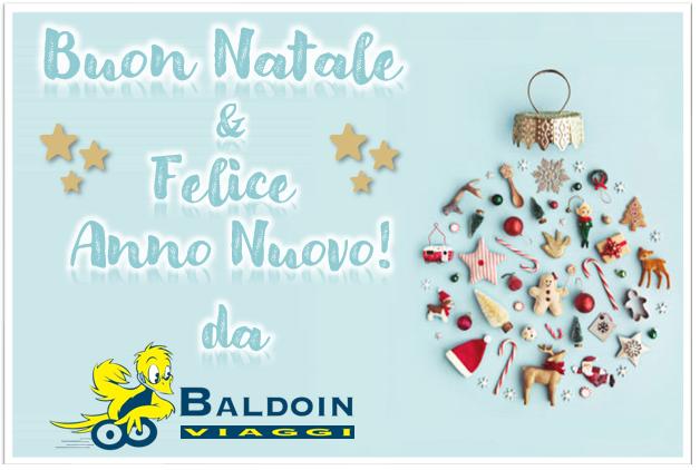 NATALE 2 - Buone Feste da Baldoin Viaggi - Chiusura festività natalizie dal 24/12 al 06/01
