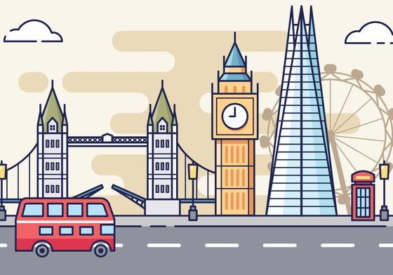 free london cityscape illustration vector 2 - La Brexit e le conseguenze per il turismo