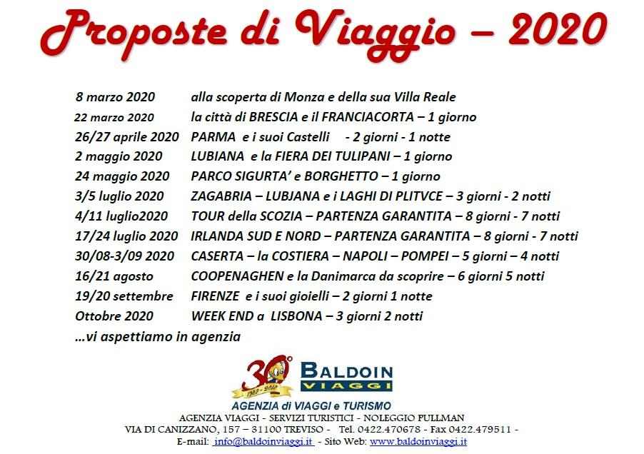 PROPOSTE DI VIAGGIO 2020 - #Holiday #Italia Agenzia Incoming Italia, Treviso e Venezia